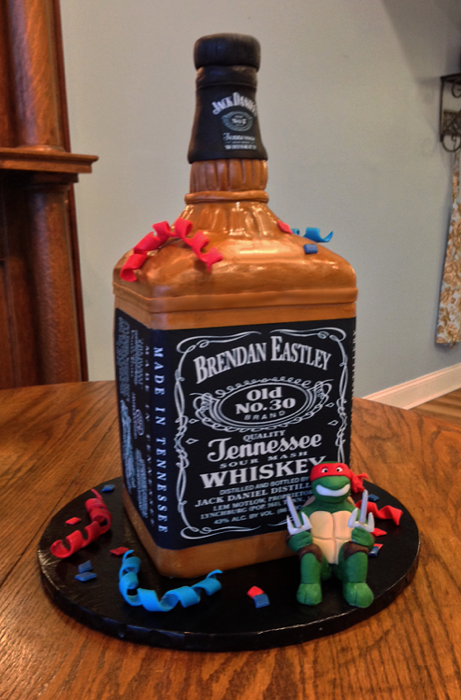Decorated Alcohol Bottles For Birthday Interesting Madison Avenue Cakes  Grooms Cakes Design Inspiration